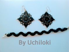 By Uchiloki: Crochet Earings and Bracelet