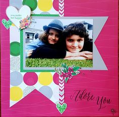 Adore You: Single Page Scrapbook Layout with Some Kinda Wonderful paper range & Adore You Stamp of the Month.