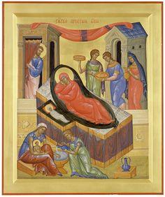 Nativity of the Virgin Religious Icons, Religious Art, Orthodox Icons, Aboriginal Art, Virgin Mary, Photos Du, Sunday School, Medieval, Mosaic