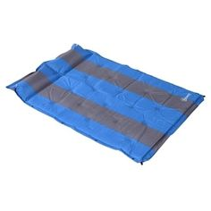 Outsunny Double Bed Camping Self Inflating Air Mattress Blue Camping Cot Glamping Inflatable