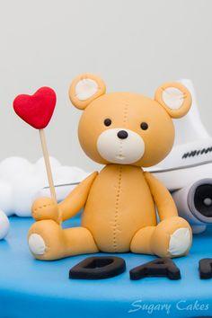 3D Fondant Teddy Bear cake topper