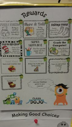 My NEW Class Dojo Points Reward System!