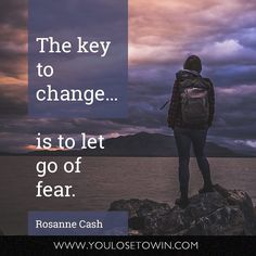 The key to change is to let go of fear. Double-tap if you agree!