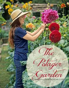 """""""A traditional French kitchen garden ~ potager ~ mingles vegetables, fruits, flowers, and herbs to make the function of providing food for the table aesthetically pleasing. An urban potager uses every inch of available space, growing edibles and ornamentals on balconies, patios, porches and rooftops."""" The Potager Garden in AugustDeep Roots at Home"""