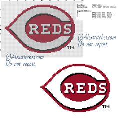 Cincinnati Reds free logo Major League Baseball MLB 100x69 3 colors