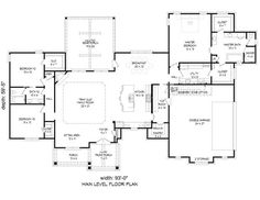 The house covers a total heated and cooled area of 2709 square feet with an unfinished 2770-square-foot basement that you may finish at your option. #houseplan #rustic 2x4 Wood, Support Columns, Building Department, Keeping Room, Traditional Design, Square Feet, House Plans, Bathrooms, Floor Plans