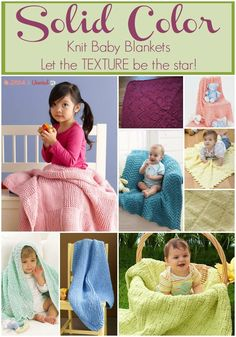 12 Stunning Solid Colored Knit Baby Blankets