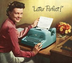 Letter Perfect!  1950 IBM typewriter.