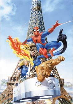 mikemayhew: COMIC BOOK MAGAZINE SPIDEY & THE FANTASTIC FOUR Cover Painting…