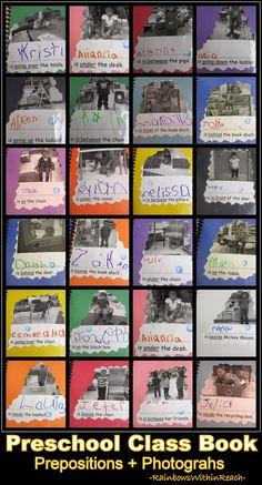 Preschool Preposition Class Book with Photographs (ELL)