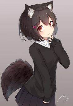 59 best anime wolf girl images in 2019 Anime Girls, Anime Wolf Girl, Anime Girl Neko, Anime Girl Cute, Anime Chibi, Manga Girl, Anime Naruto, Manga Anime, Otaku Anime