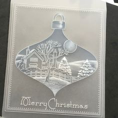 Artwork designed by Barbara Gray using Clarity stamps and products. The home of clear stamps. by myrna Christmas Cards 2018, Xmas Cards, Christmas Tree, Clarity Card, Vellum Crafts, Parchment Design, Parchment Cards, Card Patterns, Watercolor Cards