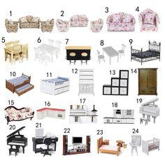 Miniature Furniture Set Kitchen Bedroom Living Room for 1/12 Dollhouse Accessory | Dolls & Bears, Dolls' Miniatures & Houses, Furniture | eBay!