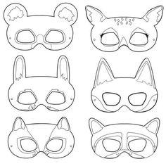 Woodland creature masks animal mask templates bear for Woodland animal masks template