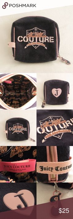 "Juicy Couture Navy Velour Pouch Authentic Juicy Couture Navy Velour Pouch Bag. Pre-owned in good condition. Has normal signs of use with TINY SPOT STAIN near the zipper. Very minor flaw and still in great shape. Dimensions : 6""H x 6"" W x 3""D ⚜❌SWAP❌TRADE ⚜ ✔️❤️Bundles ⚜✔️Smoke-free/pet-free home Juicy Couture Bags Cosmetic Bags & Cases"