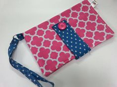 Pink & Denim Pouch by Bilbuli
