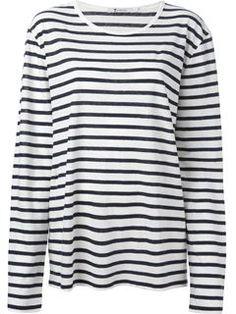 T By Alexander Wang Striped T-shirt - Ottodisanpietro - Farfetch.com