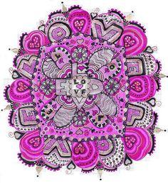 Love mandala doodle