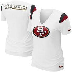 Buy this for mii and I will luv u forever!! =D    Nike San Francisco 49ers Women's Fashion Football Premium T-Shirt - White