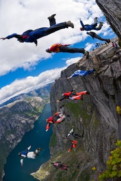Wingsuit Base Jumping I'd love to want to do this, but I think it still qualifies as a precarious place