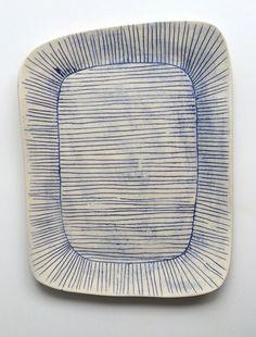 Image of blue line platter