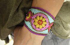 •••+Armband+crochet-bracelet+Häkelarmband+•••+von+crochet.jewels+auf+DaWanda.com