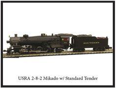 Model Power/MRC N Scale 2-8-2 Mikado Steam Locomotives at BLW.