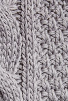 mixed cable knit reversible scarf - Google Search