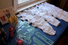 fun baby shower activity - decorate onesies! @Melanie Bauer Contratto