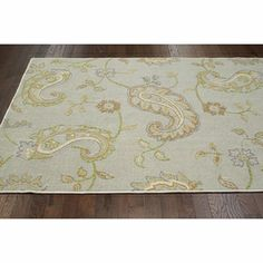 nuLOOM Machine-tufted Transitional Paisley Grey Rug (8' x 11') | Overstock.com Shopping - The Best Deals on 7x9 - 10x14 Rugs