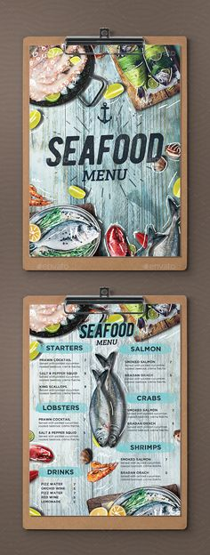 Seafood Menu - Food Menus Print Templates