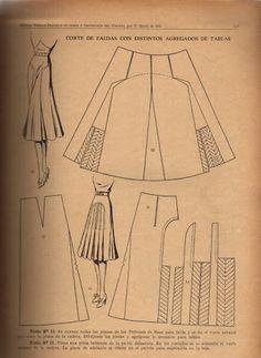 Vintage 1940s Skirt Pattern Draft
