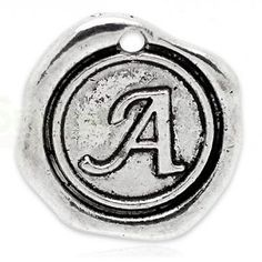 Add On Initial A Charm personalized letter by 4TasteofShabbyChic