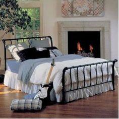 Hillsdale - Janis Metal Sleigh Bed in Textured Black