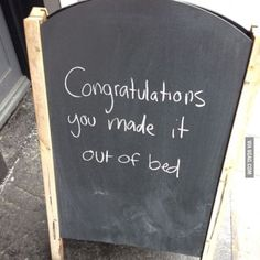 You made it.