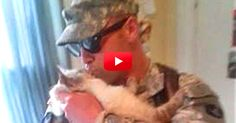 Too Cute — See This Cat's Reaction When His Soldier Comes Home. Adorable! | The Animal Rescue Site Blog