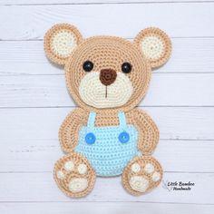 Teddy Bear Patterns Free, Crochet Teddy Bear Pattern, Jumper Knitting Pattern, Crochet Motif Patterns, Crochet Appliques, Crochet For Kids, Crochet Baby, Crochet Chicken, Stuffed Toys Patterns