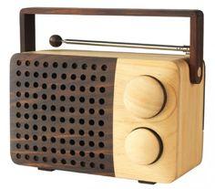 Wood radio - ipod and mp3 compatible