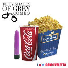 Fifty Shades of Grey, Combo, popcorns, cocacola, movie,