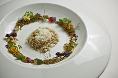 """Cauliflower cous-cous with solid aromatic herb sauce"" from Next El Bulli's menu"