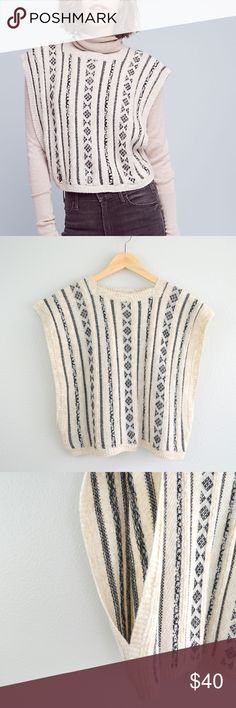"""Sita Murt Anthropologie Hargrove Pullover Sweater Sita Murt Anthropologie Embroidered Hargrove Pullover Sweater in cream and black.  Crop style that's great with high waisted jeans.  Open arms.  Sold out at Anthro!!  51% Polyacrylic, 20% Poliamide, 14% Wool, 14% Viscose, 1% Alpaca Wool.    Eur size 42 US size XL  Please see measurements below  Measurements (approximate)- Length (shoulder to hem): 20.5"""" Underarm to underarm (laying flat): 20"""" Shoulders (seam to seam): 21.5"""" Sita Murt Sweaters…"""