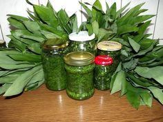 Pesto z czosnku niedzwiedziego Conservation, Korn, Preserves, Pickles, Cucumber, Detox, Mason Jars, Remedies, Food And Drink