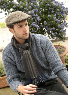 Irish Tweed John Hanly caps and lambswool scarves...classically made Irish clothing!