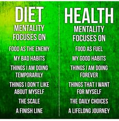 Don't diet, just eat healthy!