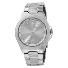 U.S. Polo Assn. Men's USC80009 Rimmed Bezel Silver Dial Link Watch U.S. Polo Assn.. $21.99. Silver arabic numbers 12,3,6,9 and sticks on silver dial with printed indicators around inner white lining of case. Silver logo. Mineral crystal. 3-Hand Analog-Quartz movement. With fold-over-clasp closure. Round silver-tone case with silver-rimmed bezel