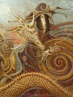 """The Conversion"" by Boris Indrikov  This artist makes me think that H R Giger and Alfonse Mucha had a baby."
