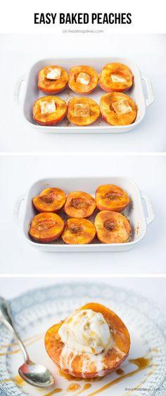 Baked peaches 15 mins to make, serves 6