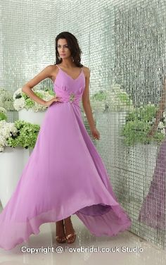 Tempting Spaghetti Straps Fuchsia #Bridesmaid #Dress