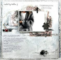 Absolutely gorgeous layout by Heather Jacob, using papers from MajaDesign's Vintage Frost Basics.    #layout #LO #lo #scrapbooking #scrapbook #scrapping #scrap #papercraft #papercrafting #papercrafts #majadesign #majadesignpaper #majapapers #inspiration #vintage