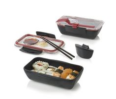 bento box black food container